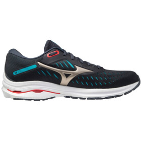 Mizuno Wave Rider 24 Shoes Men, india ink/platinum gold/scuba blue